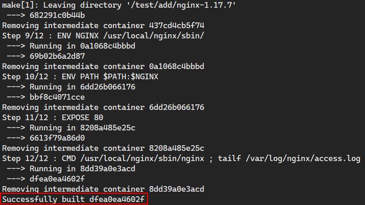 Dockerfile编译安装nginx